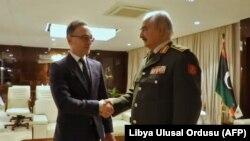 Almanya Dışişleri Bakanı Heiko Maas, General Hafter ile Bingazi'de görüştü.