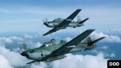 دو جنگنده A 29 سوپر توکانو.