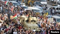 کاروان پیشمرگه های عراقی در ترکیه