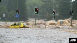 Poplavljena raskrsnica u Brizbejnu