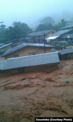 Heavy flooding swept through Freetown, Sept. 17, 2015.