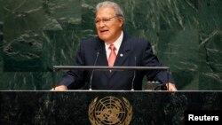 """""""Llamo a la comunidad internacional a brindarnos su apoyo para superar la crisis generada por el incremento del flujo de niños migrantes que viajan solos"""", dijo Sánchez."""