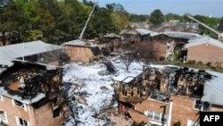 سقوط یک هواپیمای آمریکایی در یک مجتع مسکونی در ایالت ویرجینیا