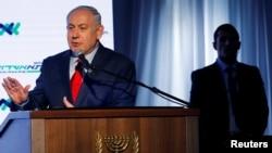 PM Israel Benjamin Netanyahu di Ashdod, Israel, 21 Desember 2017.