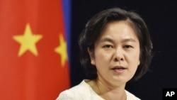 Phát ngôn viên Bộ Ngoại giao Trung Quốc Hoa Xuân Oánh khẳng định 'Trung Quốc có chủ quyền không thể tranh cãi tại Trường Sa và các vùng biển lân cận'.