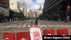 Đường phố bị phong tỏa trong cuộc đình công ở Caracas, Venezuela, ngày 26/7/17