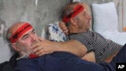 Участники голодовки. Тирана, Албания