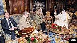 Король Абдулла и Хиллари Клинтон