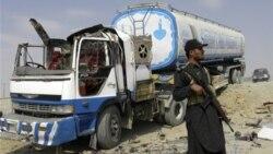 به یک نفتکش دیگر ناتو در پاکستان حمله شد