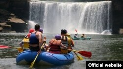 By day, Kentucky's Cumberland Falls are spectacular, by night they are magical