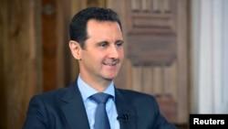 Tổng thống Syria Bashar al-Assad trong một cuộc phỏng vấn tại Damascus.