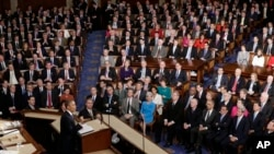 President Barack Obama gives his State of the Union address during a joint session of Congress, Feb. 12, 2013