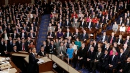 President Barack Obama gives his State of the Union address during a joint session of Congress Feb. 12, 2013