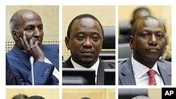 Seis membros do governo queniano cujos processos estão no Tribunal Penal Internacional de Haia