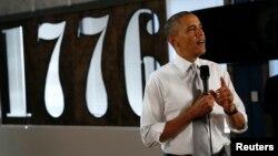 Predsednik Barak Obama govori o ekonomiji u prestonici Vašingtonu