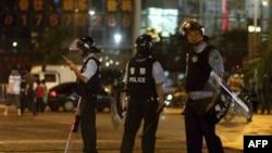 Cảnh sát Trung Quốc trên đường phố ở Bắc Kinh