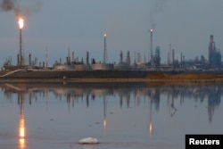 FILE - The Amuay refinery complex belongs to the Venezuelan state oil company PDVSA in Punto Fijo, Venezuela, Nov. 17, 2016.