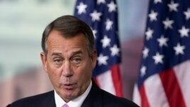 House Speaker John Boehner of Ohio speaks during a news conference on Capitol Hill in Washington, Thursday, Dec. 5, 2013.