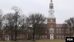 Outside on the campus at Dartmouth College in Hanover, New Hampshire