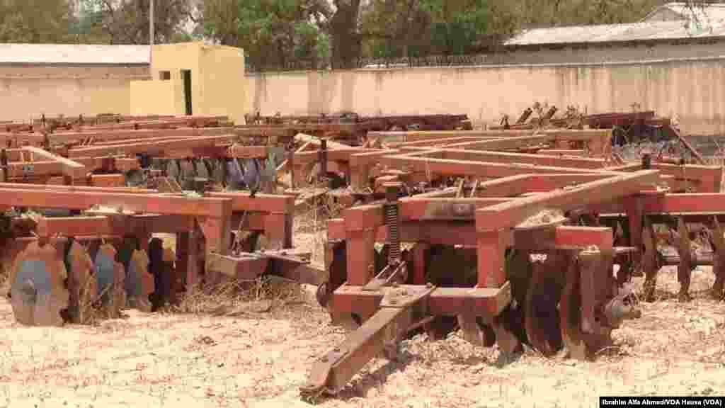 Kayayyakin noma zuben a hedkwatan ma'aikatan aikin gonar jihar, Borno a Maiduguri, 26, ga Mayu 2014.
