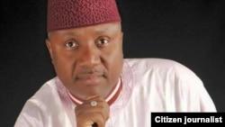 Gwamnan jihar Adamawa Jubila Bindo na APC inda jam'iyyarsa ta lashe zaben duk kananan hukumomin jihar