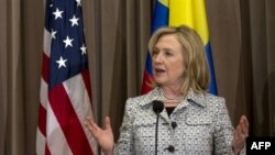 US Secretary of State Hillary Clinton speaking May 31, 2011