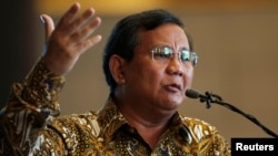FILE - Indonesian presidential candidate Prabowo Subianto