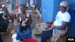 Mercado de Bandim na capital da Guiné-Bissau.