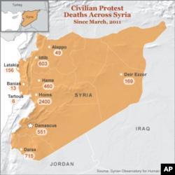2011년 3월 이후 시리아 사태로 인한 민간인 사망자 집계