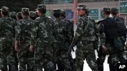 Kantor berita Xinhua mengatakan polisi China menembak mati 11 perusuh di wilayah Xinjiang (foto: dok).