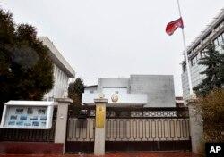 루마니아 부쿠레슈티 주재 북한 대사관 입구.