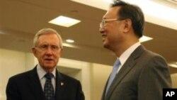 里德参议员和杨洁篪外长在北京