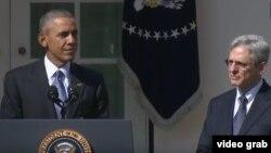 Prezident Obama Merrik Garlend nomzodini Oq uyda e'lon qilmoqda, Vashington, 16-mart, 2016-yil