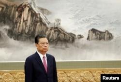 2017年10月25日,中共新常委赵乐际在北京人民大会堂与媒体见面。