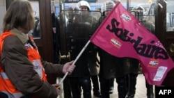 Протестующие на вокзале в Бордо
