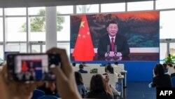 Kineski predsjednik Xi Jinping drži govor tokom otvaranja Godišnje konferencije Boao foruma za Aziju (BFA) 2021. u Boaou, provincija Hainan na jugu Kine, 20. aprila 2021. (Foto STR / AFP)