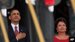Ο Πρόεδρος Ομπάμα με την Πρόεδρο της Βραζιλίας, Ντίλμα Ρούσεφ
