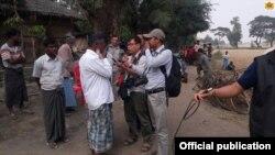 Journalist arrive Maungdaw (MOI Webportal Myanmar)