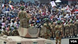 Pasukan keamanan Yaman dilaporkan menembaki demonstran yang berkemah di sebuah lapangan di Sana'a (foto: dok).