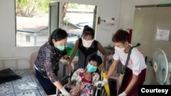 HIV၊ တီဘီနဲ ့ အသည္းေရာင္အသား၀ါေရာဂါေတြကုသေပးေနတဲ့ အင္းစိန္ျမိဳ ့က MSF ေဆးခန္းတခု (ဓာတ္ပံု-Courtesy)