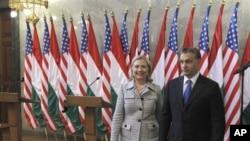 Državna tajnica Hillary Clinton i premijer Viktor Orban