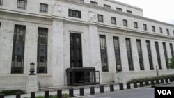 位於華盛頓的美國聯邦儲備委員會總部大樓(美國之音王南拍攝)