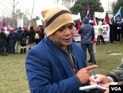 Cambodian-American Chhum Serey Sokhom lives in North Carolina. (Chetra Chap/VOA Khmer)