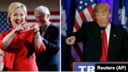 دونالد ترامپ و هیلاری کیلنتون