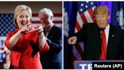 Ứng viên tổng thống của đảng Dân chủ Hillary Clinton và ứng viên tổng thống của đảng Cộng hoà Donald Trump.