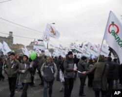 去年12月17日反对派亚博鲁集团在莫斯科波罗特广场举办的反政府集会