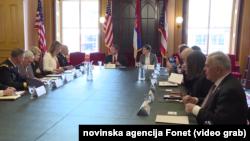 Premijerka Srbije Ana Brnabić u poseti Nacionalnoj gardi Ohaja, Foto: Video grab