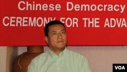 中国民主教育基金会会长方政(美国之音国符摄影)