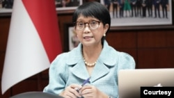 အင္ဒိုနီးရွားႏုိင္ငံျခားေရးဝန္ႀကီး Retno Marsudi။ (ဓာတ္ပံု - Indonesian Ministry of Foreign Affairs)