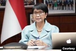 Menteri Luar Negeri RI Retno Marsudi terpilih sebagai ketua bersama COVAX AMC Engagement Group yang diprakarsai oleh Organisasi Kesehatan Dunia (WHO) dan Vaccine Alliance (GAVI). (Foto: Kemenlu RI)